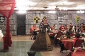 MUSKOGEE, OK - MAY 24: Royal ladies greet visitors at the Oklahoma 19th annual Renaissance Festival