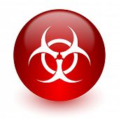 biohazard red computer icon on white background