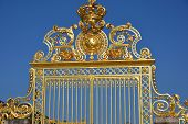 stock photo of versaille  - The golden gate of Versailles in France - JPG