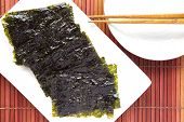 Japanese Sheet of dried nori  or dried seaweed