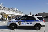 Port Authority Police New York New Jersey providing security for Royal Caribbean Cruise Ship Quantum