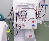 image of dialysis  - modern device of artificial kidney - JPG