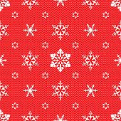 Christmas pattern with openwork snowflakes