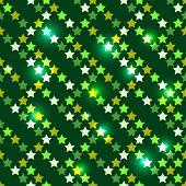 Seamless with shiny stars