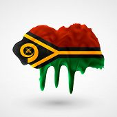 Flag of Vanuatu painted colors