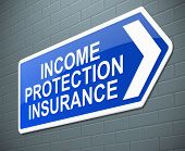 Income Protection Insurance Concept.