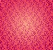 Classical pink floral pattern