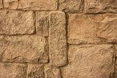 synthetic brick wall