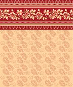 Indian pink and cream elephant floral saree design