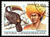 Vintage  Postage Stamp. Tibirica Indian.
