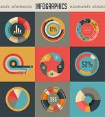 Elements backgrounds and icons of infographics