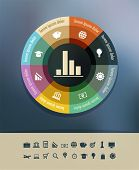 Background with infographics elements