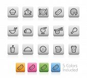 Food Icons 2 // Outline Buttons -------It includes 5 color versions for each icon in different layers ---------