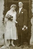 GERMANY, CIRCA TWENTIES: Vintage photo of newlyweds