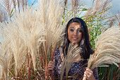 Beautiful Teenager In Maiden Grass