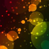 Bokeh Effect With Colours Background