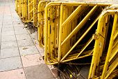 Old And Rust Yellow Barrier Guard