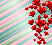 Lovely striped Valentine's day themed background to use for invitation cards, love related posters, party flyers, love magazine covers and so on.