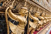 picture of garuda  - Golden Garuda of Wat Phra Kaew at Bangkok thailand