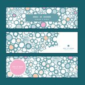 Vector colorful bubbles horizontal banners set pattern background