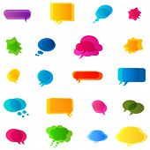 colorful bubbles speech, no transparencies