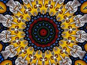 Kaleidoscope medieval stained glass window poster