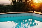 Swimming Pool under the Tuscan sunset