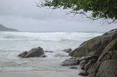 Stormy sea, Kata Beach, Phuket, Thailand