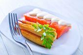 corn and salmon