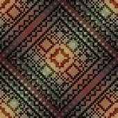 The cross-stitch pattern on diagonal gradient background.