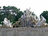 Neptune fountain in Schonbrunn