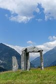 Stone Arch With Mountains