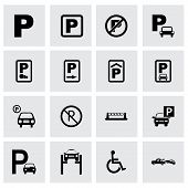 Vector parking icon set
