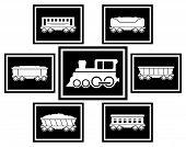 Set Icons For Railway Transportation