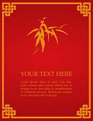 Red Chinese bamboo card