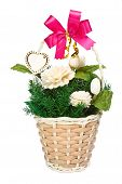 jasmine flowers in basket gift