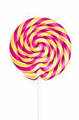 picture of lollipops  - Colorful spiral lollipop isolated on white background - JPG