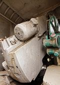picture of artillery  - A vintage naval artillery equipment from Wolrd War Two - JPG