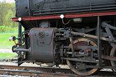 picture of steam  - Old steam train locomotive - JPG