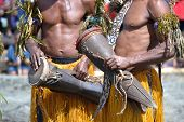 pic of papua new guinea  - Traditional tribal dance at mask festival.
