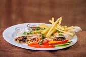 stock photo of shawarma  - Eastern food - JPG