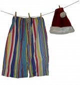 Santa Clothes String poster