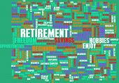 stock photo of retirement  - Retirement Planning as a Abstract Concept - JPG