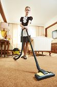 stock photo of housekeeper  - Hotel service - JPG