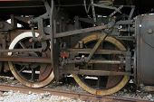 pic of steam  - Old black steam locomotive - JPG