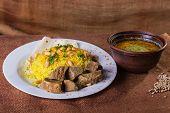 foto of arabic  - Pilaf cooked in Arabic - JPG