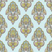 picture of damask  - Seamless damask tiled vintage pattern vector design - JPG