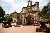 image of malacca  - The Porta de Santiago in Malacca - JPG