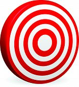 foto of noise pollution  - Eps 10 Vector Illustration of Bright Red Target Vector Render - JPG