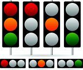 picture of traffic rules  - Eps 10 Vector Illustration of Traffic Light  - JPG